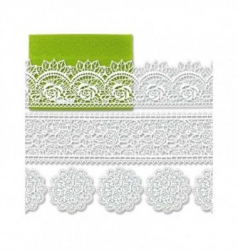 Silicone mold for lace - Flowers Friezes 390x270mm