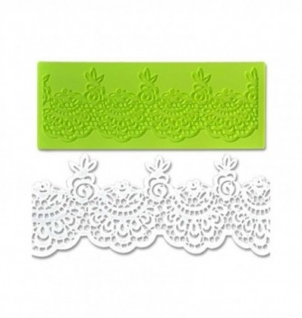 Silicone mold for lace - Baroque 180x70mm