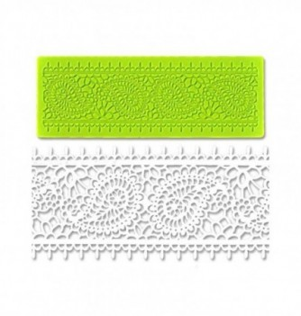 Silicone mold for lace - Doily Frieze 190x70mm