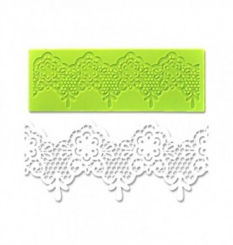 Silicone mold for lace - Baroque 180x65mm