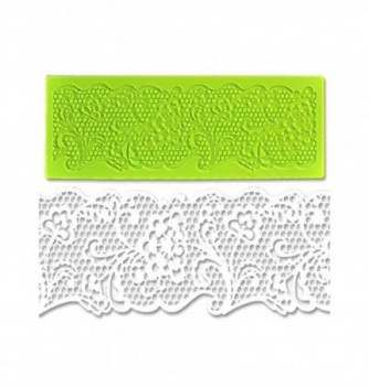 Silicone mold for lace - Long Flowers 190x70mm