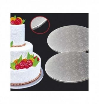 Cake Board - Silver Round - Diam 25 cm