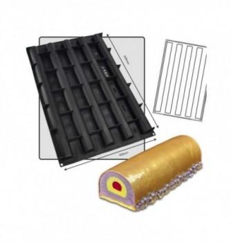 Silicone Mold - Yule Log Half Round Diam 40mm