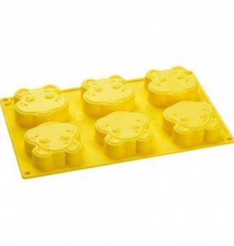 Silicone mold - Hippos- 65x75mm Vol. 85 ml