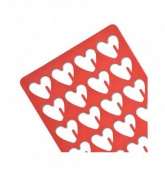 Silicone stencil - 24 Heart 40x37x2mm