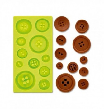 Silicone mold - Buttons x11 115x55mm