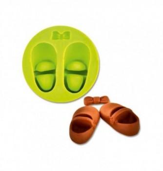 Moule Silicone Chaussure Bébé avec Noeud