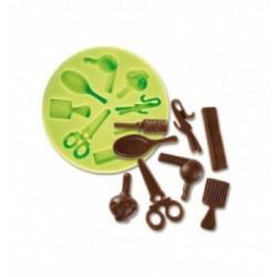 Feuille Transfert Chocolat Coeurs Liés
