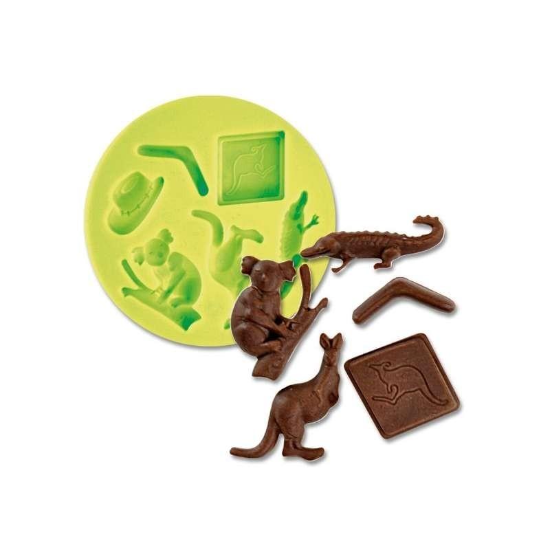 Moule chocolat lapin peintre avec palette 190mm