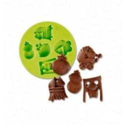 Moule Chocolat Lapin avec Oeuf de Pâques Ruban