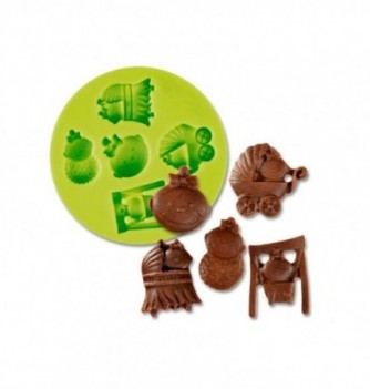 Silicone mold - Baby Accesories - 5 pcs - 2-2,5cm