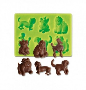 Silicone mold - Dogs - 6 pcs - 2-7cm