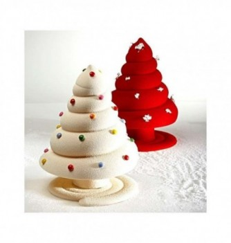 Chocolate Mold - Set of 2 Fir Trees with bases 210mm