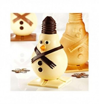 Chocolate Mold - Set of 2 Snowman with bases 125mm