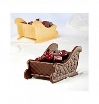 Chocolate Mold - Set of 2 Sledges with bases 90mm