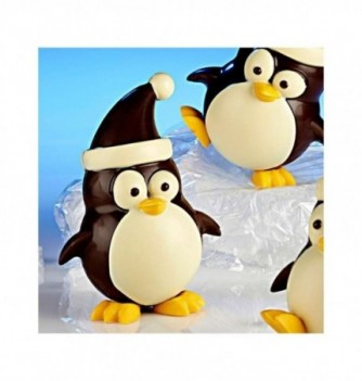 Moule Chocolat Noël Pingouin avec Bonnet