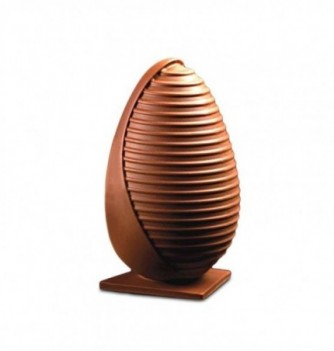 Chocolate Mold - Set of Striped Eggs with bases 200mm