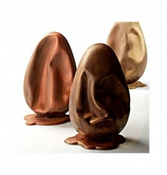 Chocolate Mold - Set of Melted Eggs with bases 200mm