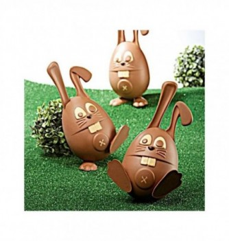 Chocolate Mold - Set of Rabbits with bases 210mm