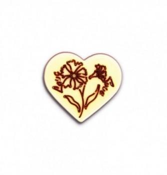 Moule Chocolat pour Décoration Oeillet dans Coeur