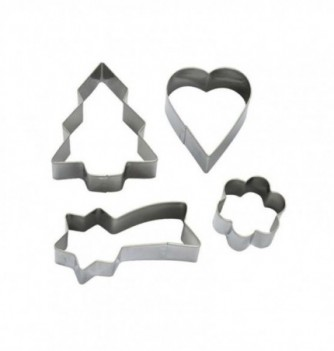 Pastry Cutters - Star , Heart & Flower- 4 pcs 50 to 95mm