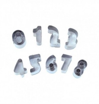 Pastry Cutters - Numbers - 9 pcs 30x15xH. 20mm