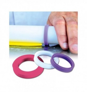Silicone Circles for Rolling Pin Set of 6 cercles-40mm -