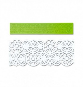 Silicone mold for lace - Hearts & Wheels Frieze...