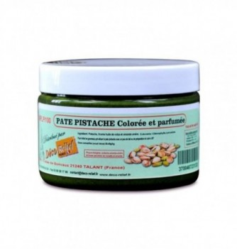 Colored and flavored pistachio paste 100 gr