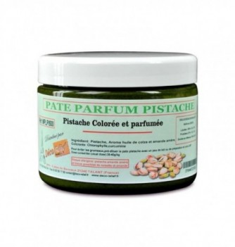 Colored and flavored pistachio paste 500 gr