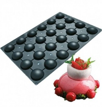 Silicone mold for Cake 60x40 cm- Half Spheres - 24 pcs