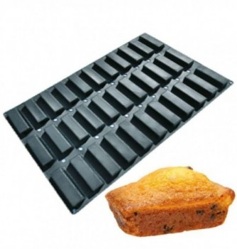 Silicone mold for Cake 60x40cm - Rectangles - 33 pcs