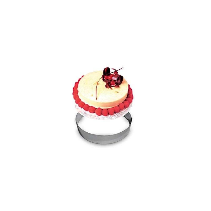 20 Moules gâteaux Cylindre Entremets Usage Unique 110x110mm