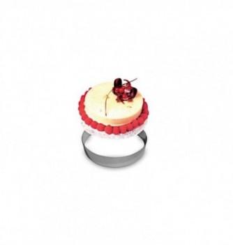 Cercle Mousse Pâtisserie Inox 7cm ht.4.5cm