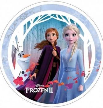 Disque Azyme Reine des Neiges 2 - Elsa, Anna et Olaf