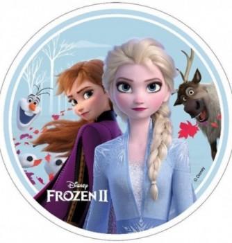 Disque Azyme Reine des Neiges 2 - Elsa, Anna, Olaf et Sven