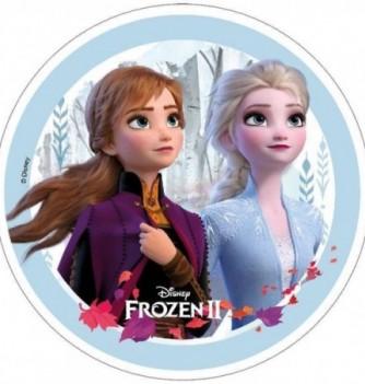 Disque Azyme Reine des Neiges 2 - Elsa et Anna gros plan