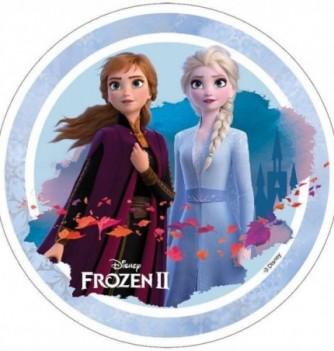 Edible Cake Topper - Frozen, Olaf & Anna