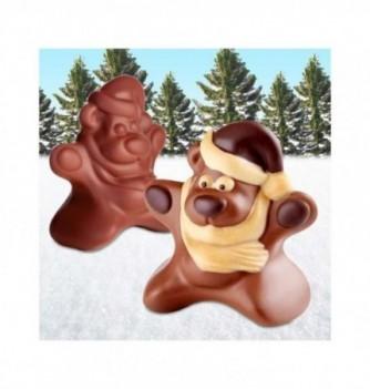 Moule Chocolat Noël Etoile Ourson