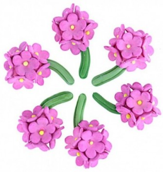 Gumpaste Flowers - Fuchsia 12 Bunches