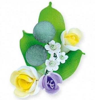 Gumpaste Flowers - Purple and yellow flowers