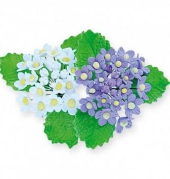 Gumpaste Flowers - White and purple flowers