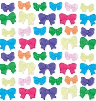 Gumpaste decoration - Multicolored Bows