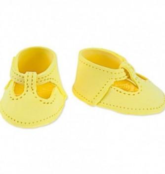 Gumpaste decoration - Yellow Shoes 6x4.5cm
