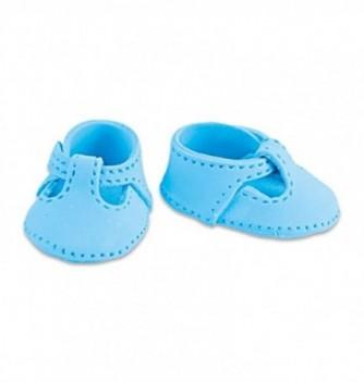 Gumpaste decoration - small Blue Shoes 4.5x3cm