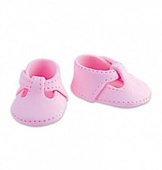Gumpaste decoration - small Pink Shoes 4.5x3cm