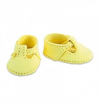 Gumpaste decoration - small Yellow Shoes 4.5x3cm