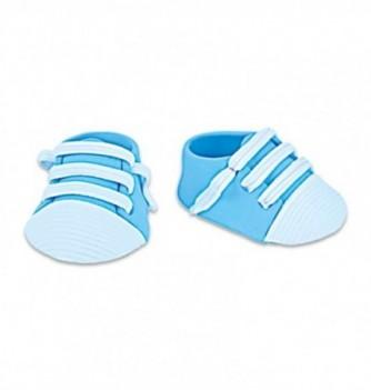 Décor Pastillage Mini Basket Bleue