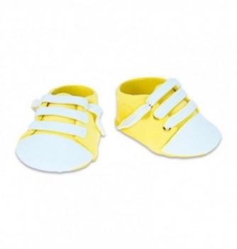 Gumpaste decoration - Yellow Sneakers 4.5x3.5cm