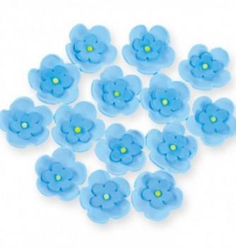 Gumpaste Flowers - Double blue flowers